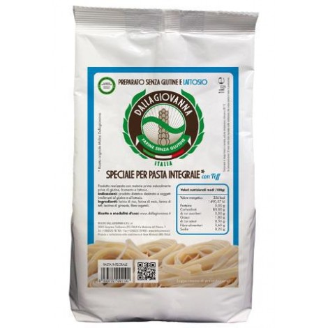 Gluten and lactose free mixture special for wholemeal pasta with Teff