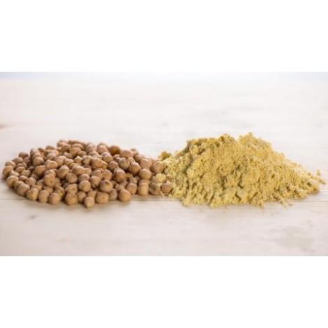 Chickpeas flour and grains