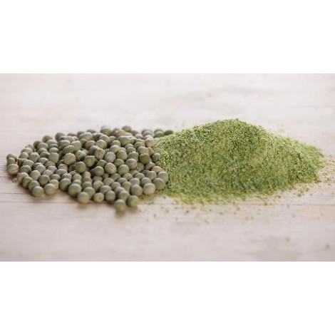 Green peas flour and grains