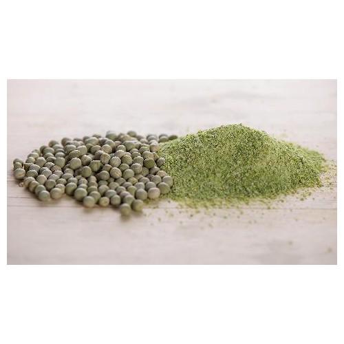 Farina e granella di pisello verde
