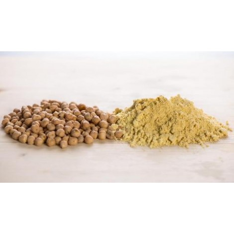 Chickpeas flour and grains