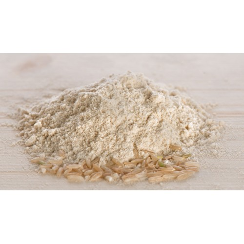 Rice flour and grains